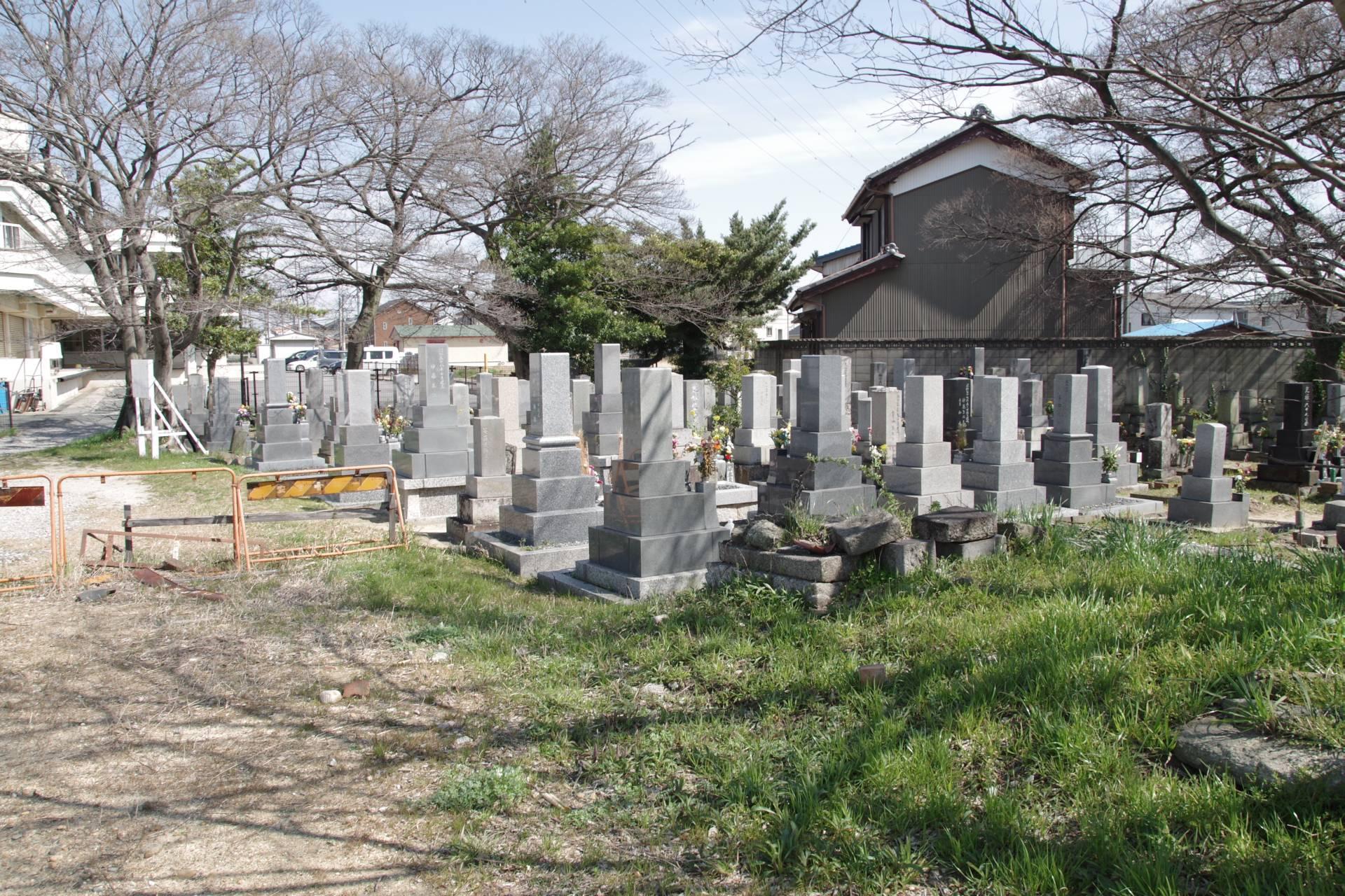 改葬工事前の墓地の様子
